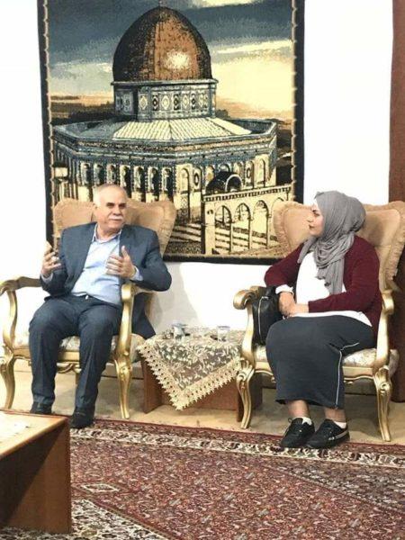 Photo of سفارة فلسطين تستقبل المصممة العراقية شهد الخليفة