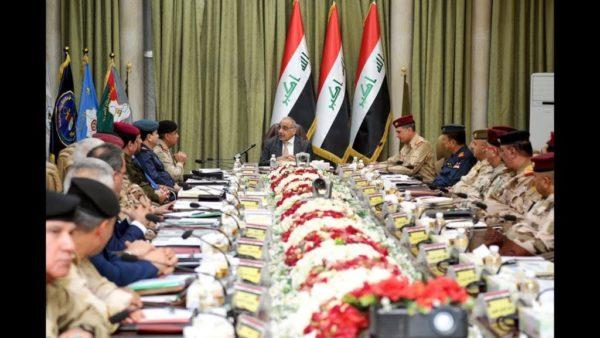 Photo of عادل عبدالمهدي يعقد اجتماعا موسعا في مقر وزارة الدفاع
