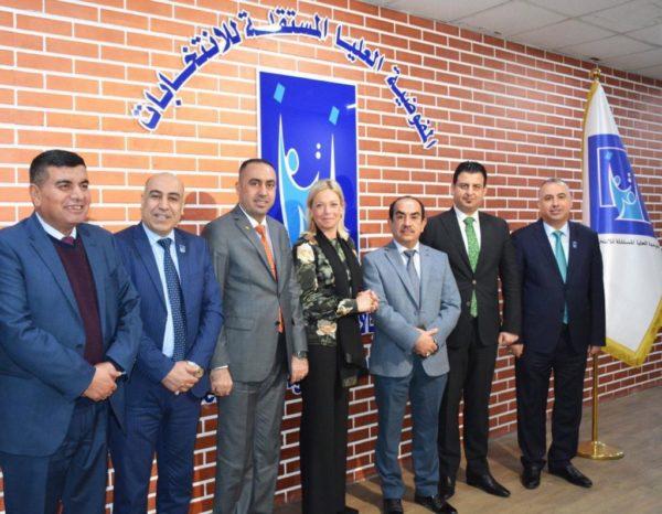 Photo of ممثلة الامين العام للامم المتحدة في العراق تلتقي مجلس المفوضيين في مفوضية  الانتخابات