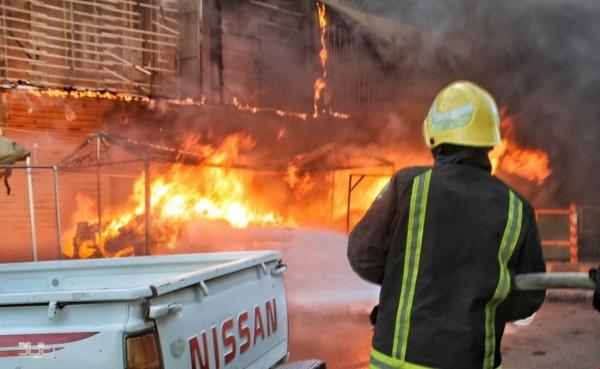 Photo of حريق في سوق الشورجة