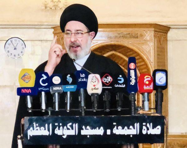 Photo of خطيب الكوفة: نطالب مجلس النواب بالعمل الجاد والفعال لانهاء الوجود الامريكي في العراق