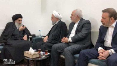 Photo of سيد السيستاني يستقبل الرئيس الايراني حسن روحاني في مقر اقامته بالنجف