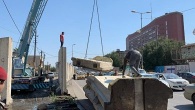 Photo of امانة بغداد: رفع الكتل الكونكريتية القريبة من جسر الجمهورية