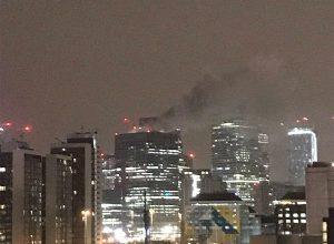 Photo of اخماد حريق في منطقة البنوك وسط لندن