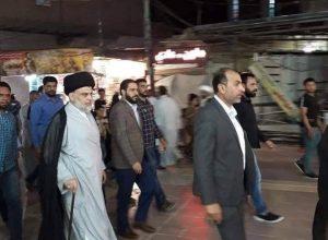 Photo of السيد مقتدى الصدر يزور براني المرجع الديني السيستاني
