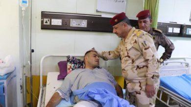 Photo of قائد عمليات بغداد يتفقد جرحى قواتنا الامنية