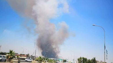 Photo of اندلاع حريق مقابل كراج بغداد في كركوك دون معرفة الاسباب