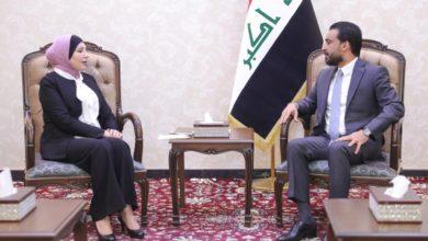 Photo of الحلبوسي يناقش مع علوش توفير التخصيصات المالية اللازمة لأمانة بغداد