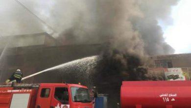 Photo of اندلاع حريق كبير في مخازن تجارية قرب مول في اربيل