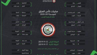 Photo of تحديد موعد انطلاق الدور التمهيدي الاول من بطولة كاس العراق