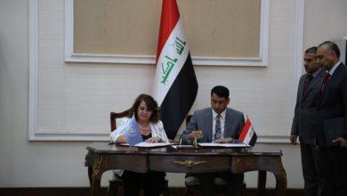 Photo of الحكومة العراقية توقع اتفاقا مع برنامج الأمم المتحدة الإنمائي لتنفيذ مشاريع إعادة الاستقرار في المناطق المتضررة بقيمة 33 مليون دولار