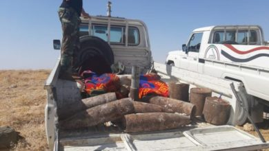 "Photo of الحشد يدمر كدس عتاد ومقذوفات حربية لـ""داعش"" في تلعفر"