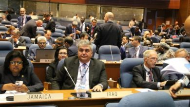 Photo of الوفد العراقي المشارك في اعمال الجمعية العمومية لمنظمة الطيران المدني الدولي، يلتقي بالامين العام للمنظمة