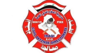Photo of فرق الدفاع المدني تخمد الان حريق مذخر الأدوية في منطقة الحارثية وتنقذ من فيه
