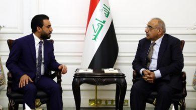 Photo of عبدالمهدي والحلبوسي يبحثان الطلبات التي سلمها المتظاهرون