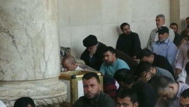 Photo of سيد الصدر يحضر صلاة الجمعة في مسجد الكوفة