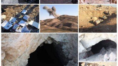 Photo of خلية الإعلام الأمني: تدمير ثلاثة انفاق ووكر بضربة جوية في جبال الخانوكه بالشرقاط