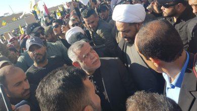 Photo of بالصور.. مشيعو شهداء الحشد امام السفارة الاميركية