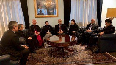 Photo of سفيرتا جمهورية العراق لدى الفاتيكان وروما تستقبلا رئيس الجمهورية د. برهم صالح
