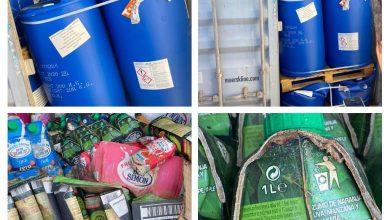 Photo of الكمارك … ضبط اربع حاويات مواد كيميائية ومواد غذائية  مخالفة  في كمرك ام قصر الشمالي