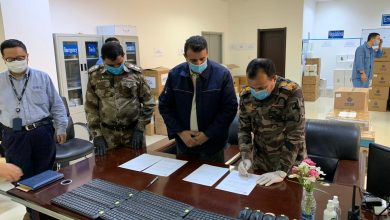 "Photo of شركة نفط ميسان "" شركة سينوك الصينية تجهز المحافظة ب( ٨٠،٠٠٠ ) كمامة"