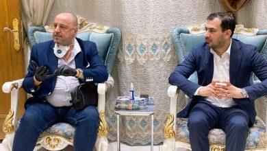 Photo of الربيعي يستقبل المدرب الدولي الكابتن حكيم شاكر والوفد المرافق له