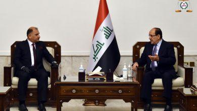 Photo of رئيس ائتلاف دولة القانون السيد نوري المالكي يستقبل وزير الصناعة والمعادن الجديد