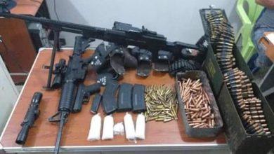 Photo of مكافحة المخدرات ذي قار تضبط كمية من مادة الكريستال المخدرة وأسلحة مختلفة