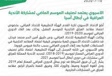 Photo of الآسيوي يعتمد تصنيف الموسم الماضي لمشاركة الأندية العراقية في أبطال آسيا