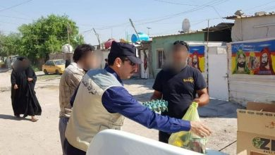 Photo of بتبرع وجهود ذاتية من منتسبيها..   الشرطة المجتمعية توزع سلالا غذائية على العوائل المتعففة في بغداد