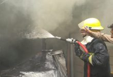 Photo of بالصور : 10 فرق اطفاء تخمد حريق اندلع داخل مطعم (سما ريستو كافيه) وسط النجف الاشرف