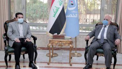 Photo of مستشار الأمن الوطني السيد قاسم الأعرجي يلتقي رئيس ائتلاف النصر الدكتور  حيدر العبادي