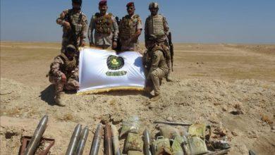 Photo of قيادة عمليات الجزيرة واستخباراتها يستولون على كدس للعتاد في الانبار