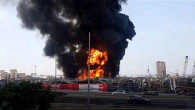 Photo of اندلاع حريق كبير في مرفأ بيروت