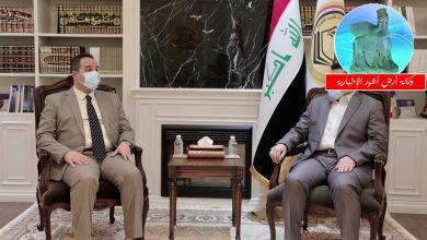 Photo of مستشار الأمن القومي السيد قاسم الأعرجي  يستقبل وزير التجارة
