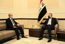 Photo of رئيس مجلس الوزراء السيد مصطفى الكاظمي يستقبل نائب رئيس مجلس النواب السيد بشير الحداد