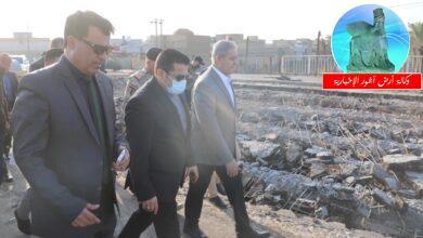 Photo of مستشار الأمن القومي رئيس فريق أزمة الطوارئ السيد قاسم الأعرجي يتفقد عمليات إعمار جسر الناصرية الكونكريتي