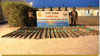 Photo of وكالة الاستخبارات:بعملية أستباقية  نوعية في الانبار القبض على (١٣) ارهابي وضبط (٤٦ )صاروخ