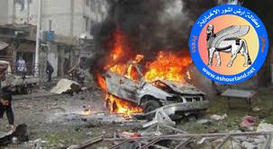 Photo of انفجار سيارة مفخخة بالخطأ ادت الى مقتل ٢١ داعشياً بجلام سامراء
