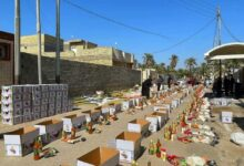 "Photo of فريق تطوعي "" يوزع ( ١٠٠٠ ) سلة غذائية للعوائل الفقيرة و المتعففة في ميسان"