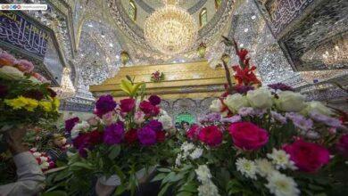 Photo of (علي راية الهدى) ترفرف فوق ضريح امير المؤمنين بالنجف